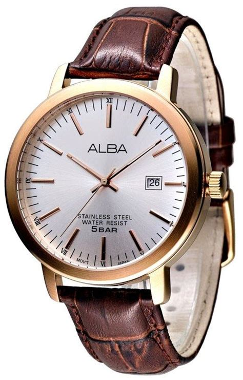 Alba At3382 Rosegold Brown Leather Original nwt alba prestige as9212x1 a9s215x1 as9217x1 as9219x1