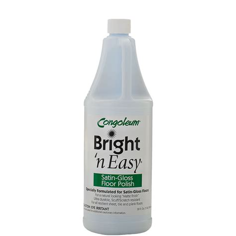 Congoleum Bright  Easy Satin Gloss Floor Polish  Oz