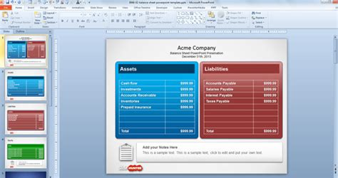 Decorate Your Home Free Balance Sheet Powerpoint Template Free Powerpoint