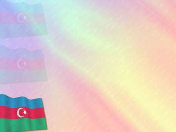 azerbaijan flag 01 powerpoint templates