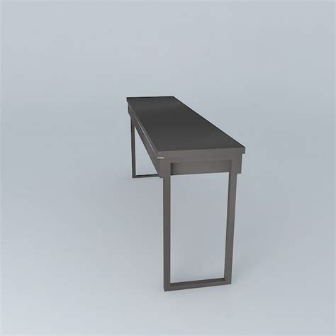 besta burs desk grey free 3d model max obj 3ds fbx stl skp
