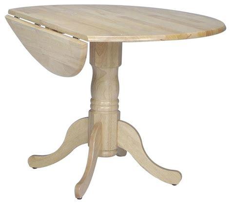 Drop Leaf Pedestal Dining Table Dual Drop Leaf Pedestal Dinette Table Contemporary Dining Tables By Ivgstores