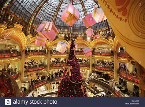 christmas decorations in galeries lafayette department