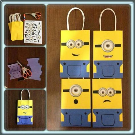 how to make minion favor bags minion bags my minions pinterest bags party favors