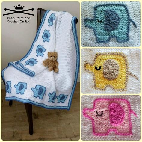 crochet pattern elephant baby blanket elephant s on parade baby blanket crochet pattern by keep