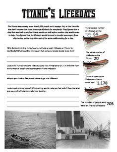 printable titanic quiz titanic unit lesson plans and printable activities