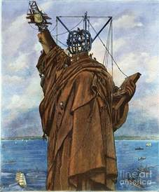 what color was the statue of liberty statue of liberty 1886 photograph by granger