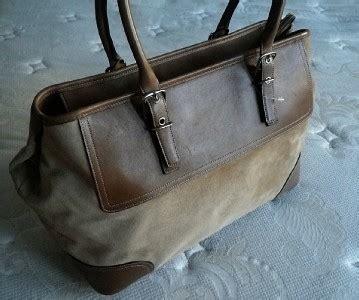 Bag Fashions Import S765 Camel coach vtg htons xl camel suede weekend business travel tote bag satchel ebay