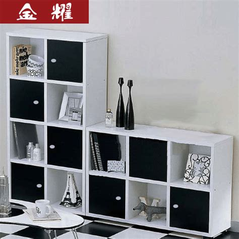 Bookshelf Black And White Black And White Sets Combination Bookcase File Cabinet