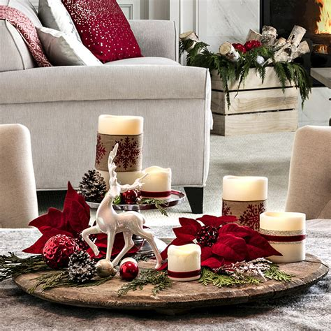 how to decorate a coffee table for christmas open plan living space decor ideas