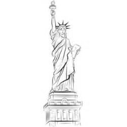 statue of liberty drawing template drawing statue of liberty in new york usa vector polyvore