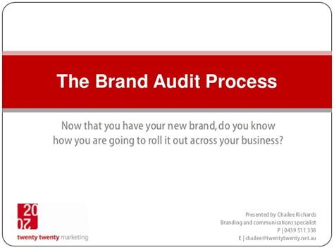 The Brand Audit Process Brand Audit Template