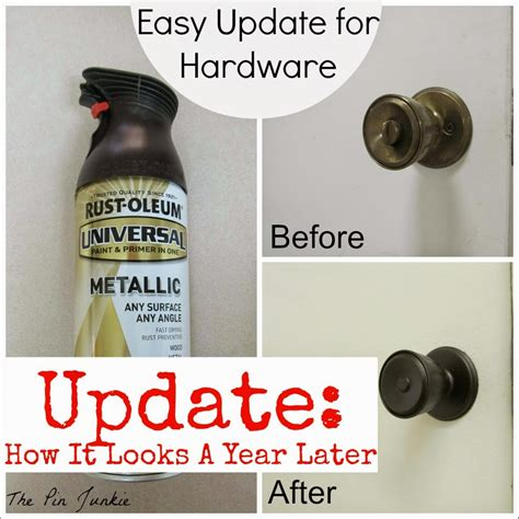 How To Spray Paint Drawer Pulls by The Pin Junkie Spray Painted Door Knobs