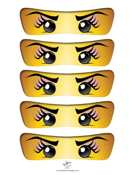 ninjago printable eyes 222 best images about lego ninja printables on pinterest