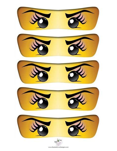 printable ninjago eyes ninja girl eyes ninjago party pinterest eyes girls
