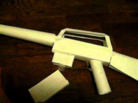 How To Make A Paper M16 - paper m16 assault rifle