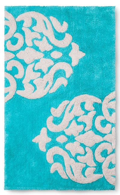 aqua bathroom rugs turquoise hope bath rug everything turquoise
