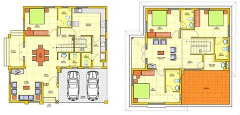 layout denah rumah 2 lantai denah rumah minimalis 1 lantai dan 2 lantai 3d 5 house