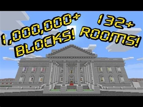 Room Blueprints white house grounds 1 000 000 blocks minecraft project