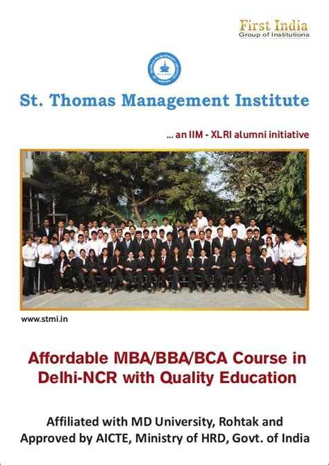Cheapest Mba College In Delhi Ncr by Brochure Stmi