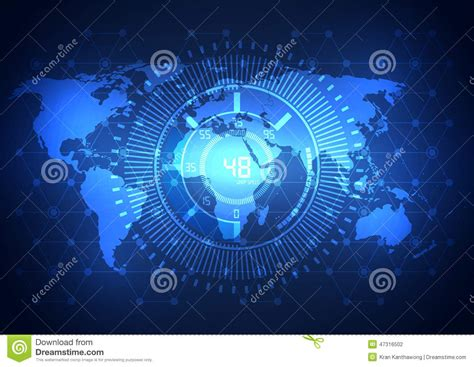 International Mba Technology by Global Business Network Technology Background Vector