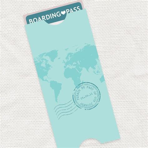 printable ticket envelope map boarding pass travel pouch envelope printable file
