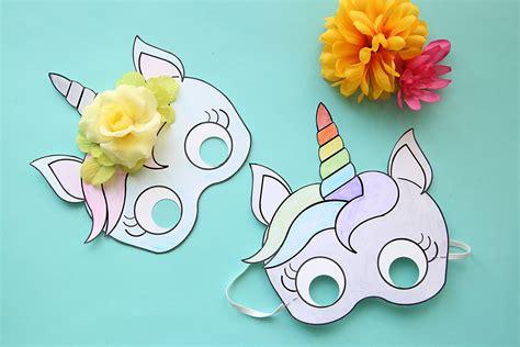 printable unicorn mask unicorn masks to print and color free printable it s