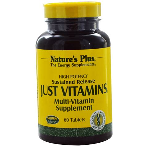 supplement vitamins nature s plus just vitamins sustained release multi