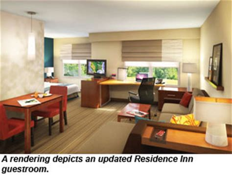 marriott hotel room layout marriott rolls out new look and layout for residence inn