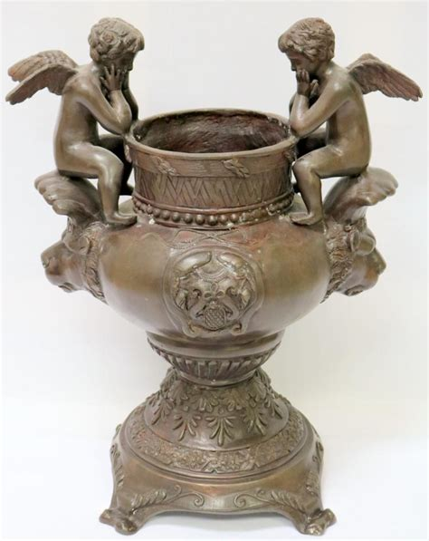 Bronze Planter Maitland Smith Large Cherub Bronze Planter