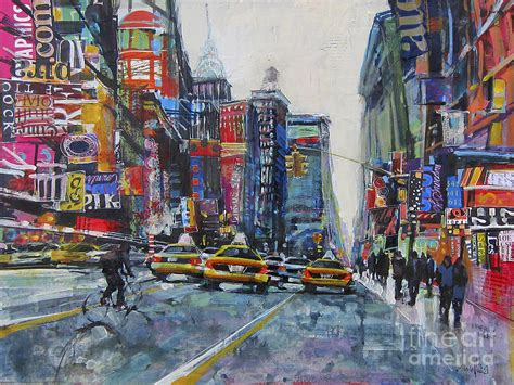 acrylic painting nyc heading uptown nyc painting by patti mollica