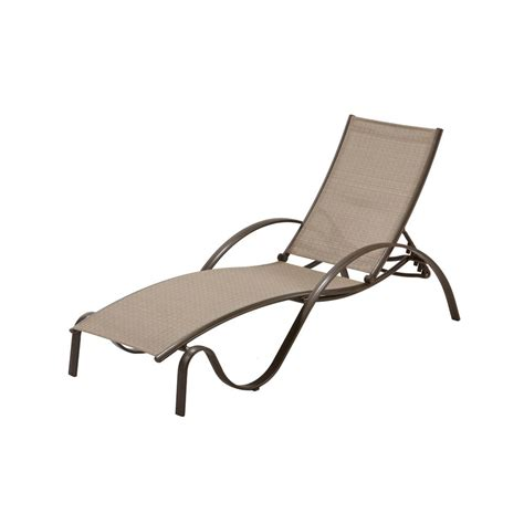 sunbrella chaise lounge hton bay commercial grade aluminum brown outdoor chaise