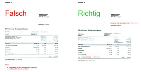 Rechnung Schweiz Mit Oder Ohne Mehrwertsteuer Wichtig Korrekte Rechnungsstellung Bei Freiwilliger Mehrwertsteuer Option Pinus