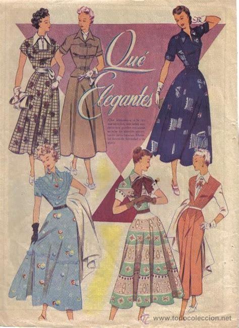 imagenes vintage femeninas hoja de revista moda femenina a 209 os 50 que elegantes