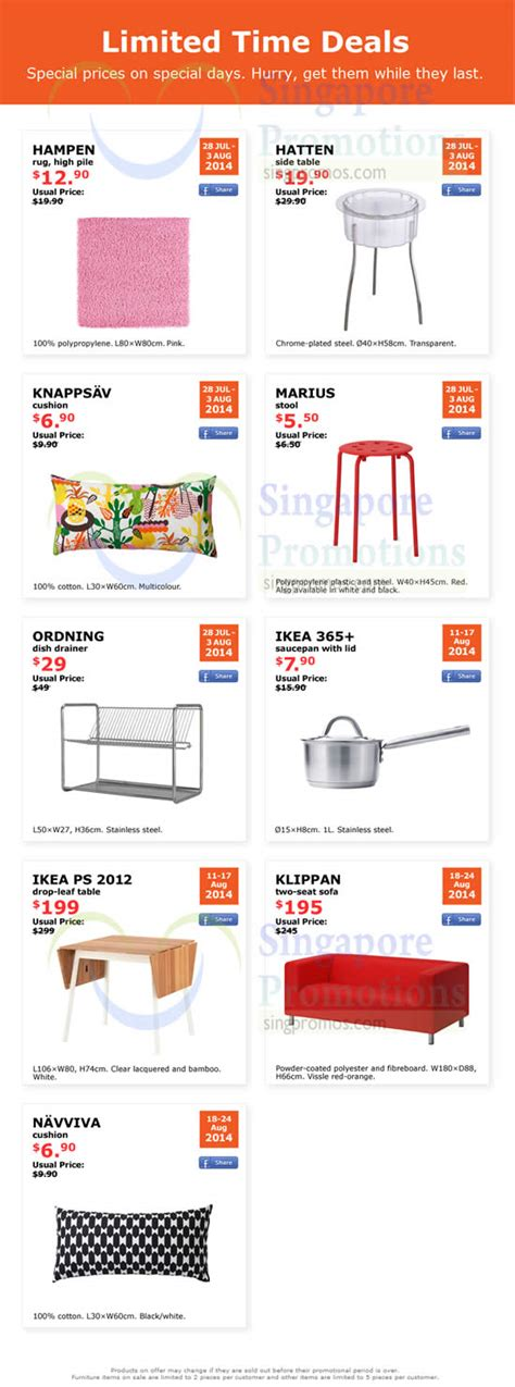 ikea singapore sale 2012 time ikea limited time deals 28 jul 24 aug 2014