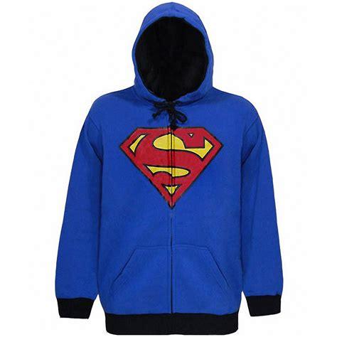 Hoodie Zipper Superman Harmony Merch Superman Merchandise Superman Shield Zip Up Hoodie By