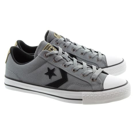 Converse Player Gray converse player ox lace shoes in grey in grey