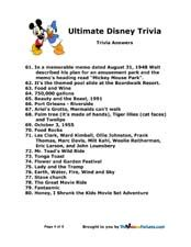 ultimate film quiz questions disney trivia page two