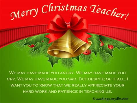 christmas messages  teachers wordings  messages