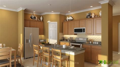 Kitchen Design 3d 3d Kitchen Interior Design And Rendering On Behance