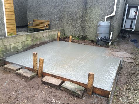 shed base  patio   redruth cornwall landscaping