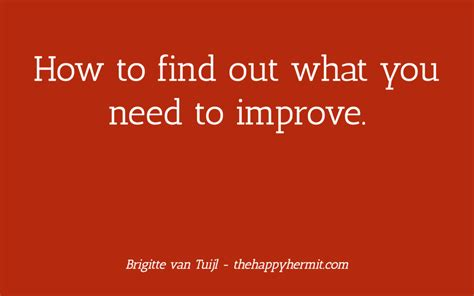 How To Find Out What Want How To Find Out What You Need To Improve Brigitte Vantuijl