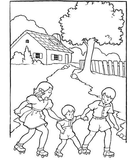 Kids coloring pages learning to skate free printable kids coloring