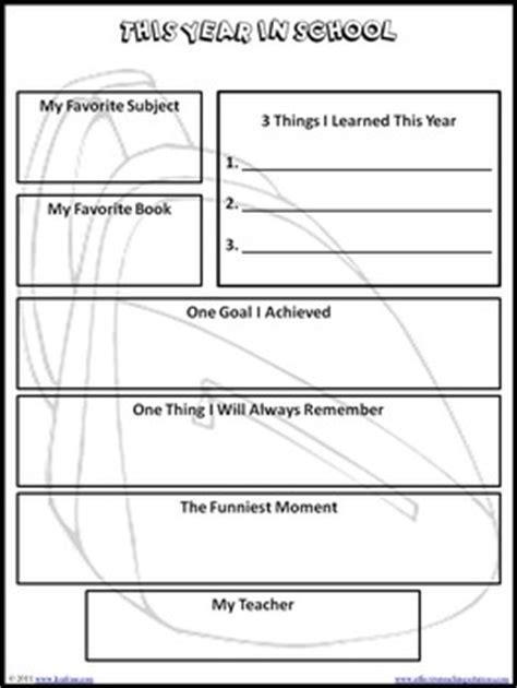 Free End Of School Year Memory Book For Grades K 5 By Lisa Frase Free Printable Memory Book Templates