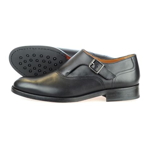 rooster league leather single monkstrap dress shoe black 39 rooster league