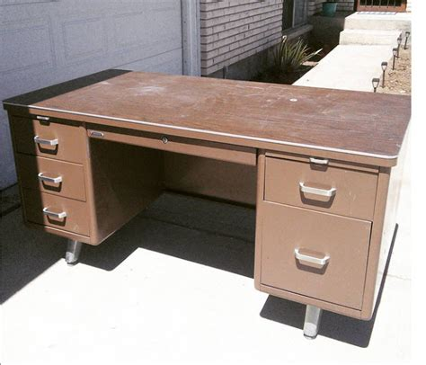 painting a metal desk the craft patch vintage tanker desk makeover