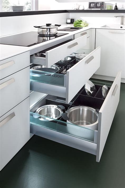 Kitchen Drawers Design | modern space saving kitchen storage and shelving ideas
