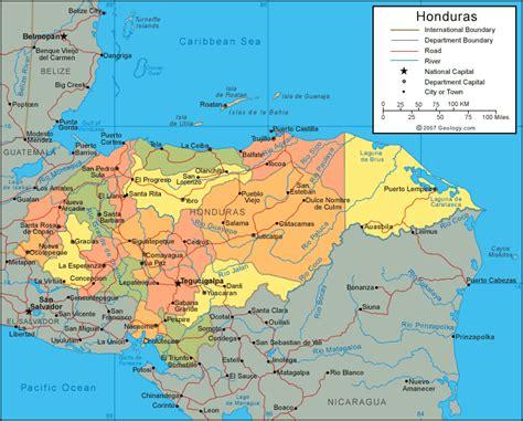 world map of honduras cities in honduras honduras