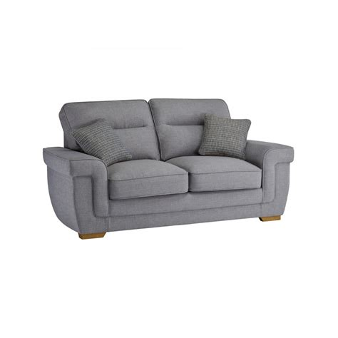 kirby  seater sofa bed  deluxe mattress barley silver