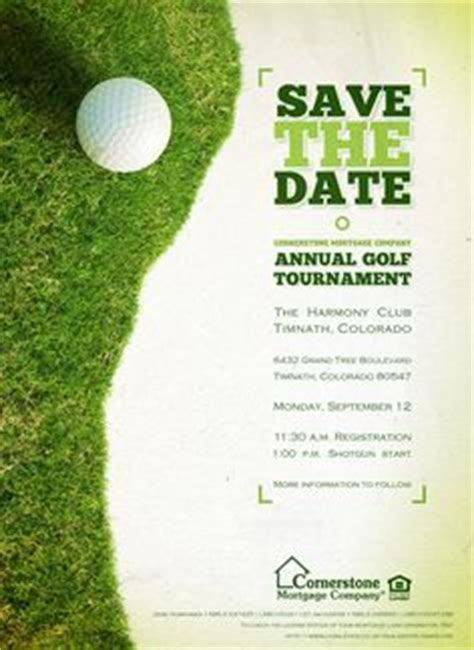 1000 Images About Inspiraci 211 Golf On Pinterest Golf Brochures And Flyer Template Golf Tournament Save The Date Template